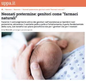 Neonati pretermine - Erica Melandri psicologa e psicoterapeuta Roma